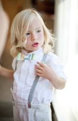cute striped bow tie ring bearer