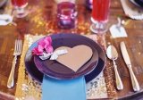 heart shaped menu wedding
