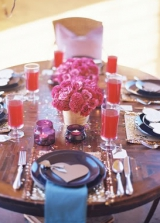 bright pink fall table