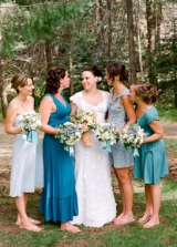 blue bridesmaid dress