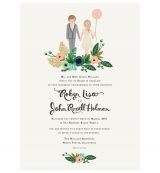 rifle paper co illustrated wedding invite