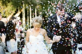 rainbow paper confetti wedding