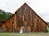 old barn bride groom