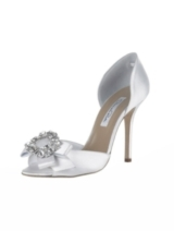 ROSA SATIN PUMP CRYSTAL DORSAY