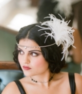 The Zelda - Ostrich and Rhinestone Headpiece