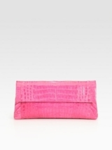 Crocodile Flap Clutch