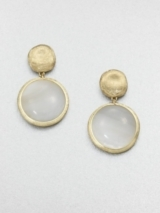 Mother-of-Pearl and 18K Yellow Gold Earrings