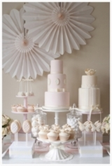 Pink and cream Dessert and Cake Table FIona Kelly Photography Reverie Magazine 2