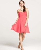 Silk Georgette Sweetheart Strapless Dress