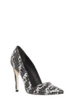 DINA OPTIC SNAKE PRINT LEATHER HEEL