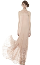 FRANCESCA CENTER GATHERED STRAPLESS LONG DRESS