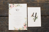 ruffled wedding invite