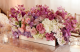purple wedding fowers