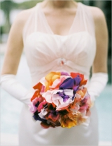 colorful fabric bouquet