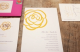 yellow wedding invitaiton