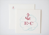 anchor wedding invitaiton