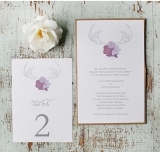 Free Antler Wedding Invite