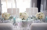 silver and blue wedding ideas