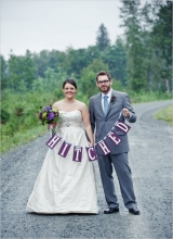 hitched wedding sign