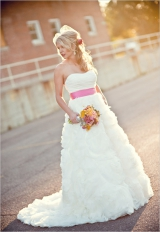 pink wedding sash