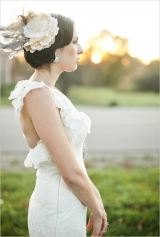 vintage lace wedding gown