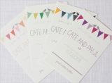 custom bunting save the dates
