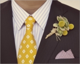 yellow wedding ideas for the groom