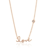 Shy by Sydney Evan Love Necklace Rose Gold