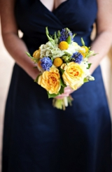 Navy pink and yellow wedding 12