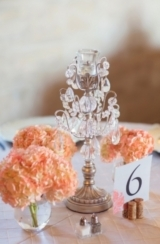 Vintage Peach and White Florida Wedding