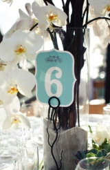 Modern white, green & aqua wedding 30