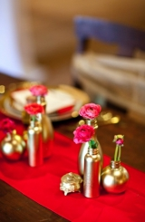 Red, pink and gold wedding inspiration 5