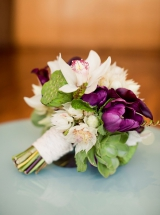 Modern purple and green wedding 1