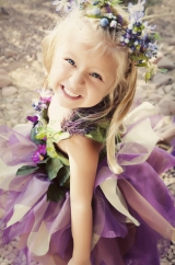 Purple Whimsical Flower Girl