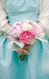 Pink + Aqua Blue Wedding Inspiration Board