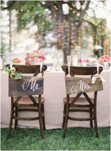 rustic Mr. and Mrs. chair decor wedding planning first things first selecting your wedding venue