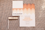 orange ombre printable wedding invitation suite and accessories, Blush Printables