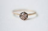 unique brown stone engagement ring by Satomi Kawakita