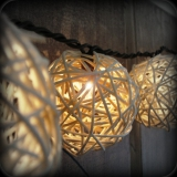 DIY rattan ball string lights