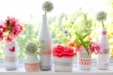 washi tape vases by a creative mint