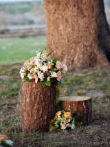 Mint, Peach & Orange Rustic Ranch Wedding Christa Elyce