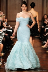 Romona Keveza pale blue wedding dress