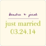 Trendy Vines -- Wedding Favor Stickers