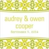 Vintage Pattern -- Wedding Favor Stickers