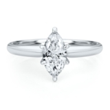 3/4ct Marquise Diamond Engagement Ring in 14K Gold