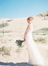 Bridal makeup looks, Jose Villa Photography, bold lip brides