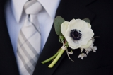 anemone wedding boutonier