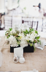 clean reception centerpieces, St. Regis Hotel wedding, Dana Point California, Hugh Forte photography
