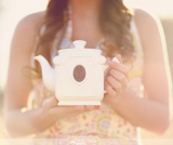 tea inspired engagement shoot