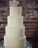 Simple modern wedding cake, four tier wedding cake, The Balcony on Dock Street, Wilmington North Car